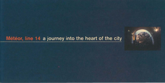 Météor, line 14, a journey into the heart of the city